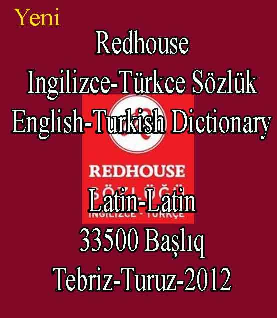 Redhouse İngilizce-Türkçe Sözlük – Tebriz-Turuz